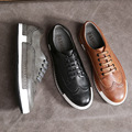 New men fashion designer vintage casual flat shoes moccasins sapatos femininos lace up shoes sapatilhas zapatos mujer shoes