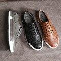 Novos homens do desenhador de moda do vintage rendas até sapatos casuais sapatos baixos mocassins sapatos femininos sapatilhas zapatos mujer sapatos