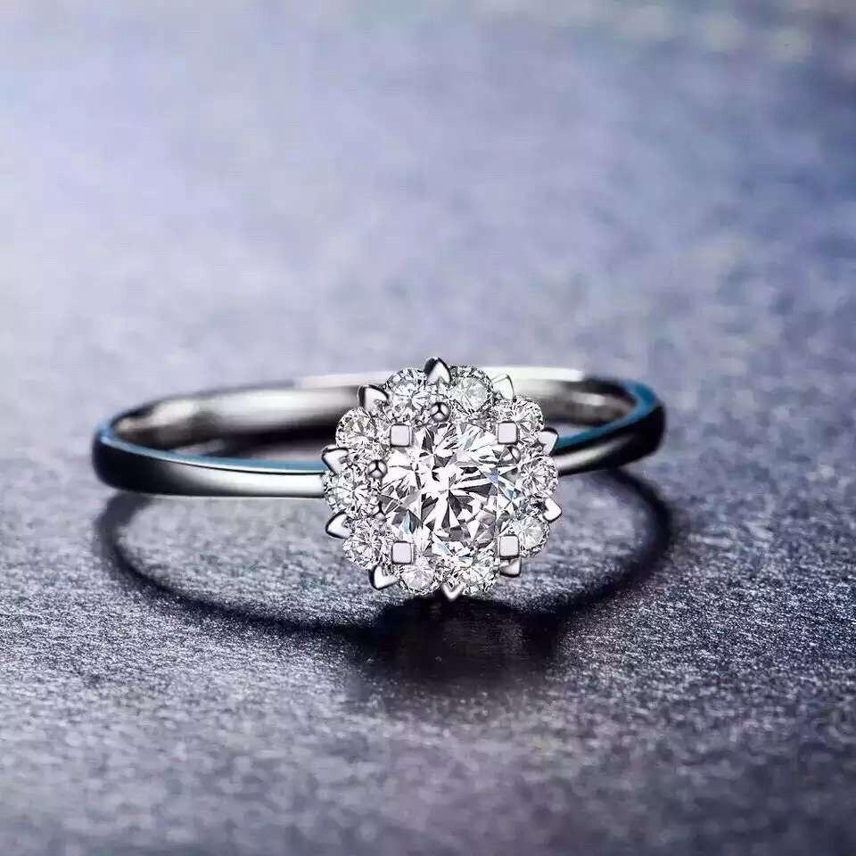 Natuurlijke Diamond Ring voor Vrouwen 0.16ct VS/H Echt Diamond 18 K Goud Handgemaakte Wedding Band Luxe Sieraden