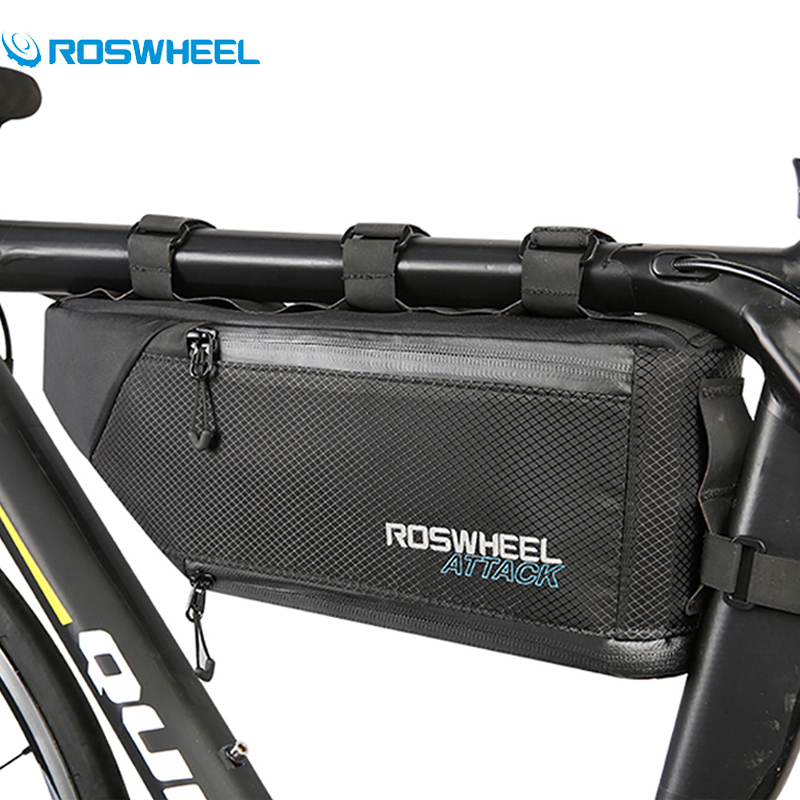 Roswheel Bike Bag Waterproof Bicycle Frame Front Tube Bag 3+1L Cycling Triangle Saddle Bag Bicycle Accessories Bolsa Ciclismo generic 2 3 5l bicycle saddle bag cycling rear bag