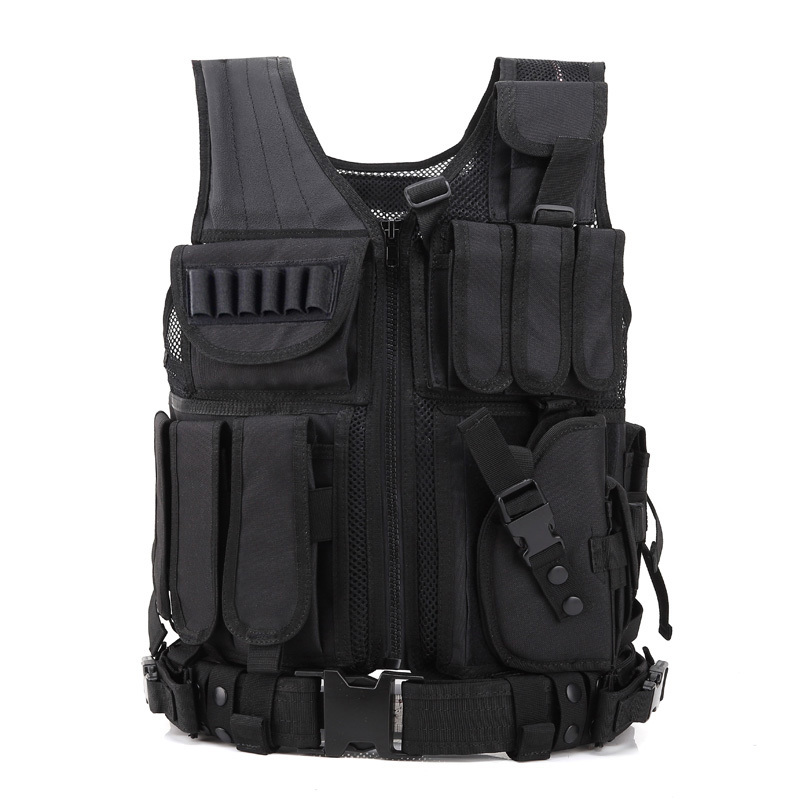Men's Military Tactical Vest combat armor Army Hunting Molle Airsoft Vest Outdoor Armor Swat Combat Painball Black Vest for Men camouflage tactical vest mens hunting vest outdoor black training military army swat mesh vests protective equipment