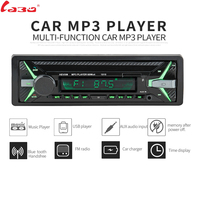 LaBo 12V Bluetooth Auto Car Radio 1DIN Stereo Audio MP3 Player FM Radio Receiver Support Aux Input SD USB MMC + Remote Control