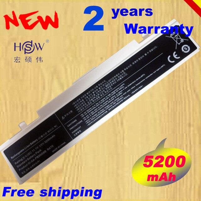 HSW 6Cells white Laptop Battery AA PB9NS6B AA PB9NC6B For Samsung R418 R420 NP300E