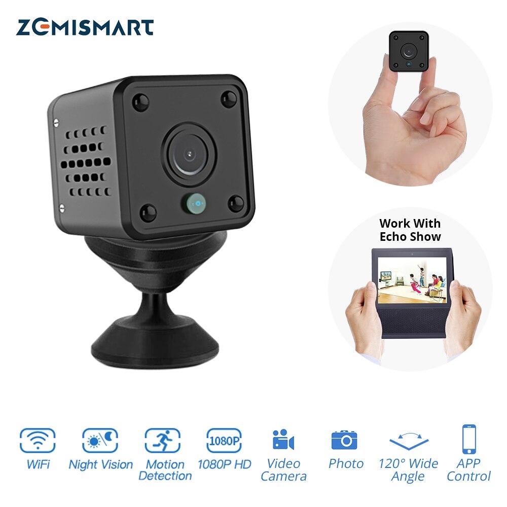 Tuya Inteligente 1080P Mini Câmera Com Echo Mostrar Sincronização De Áudio e Vídeo Gravação Onvif Night Vision Motion Detection Funtion