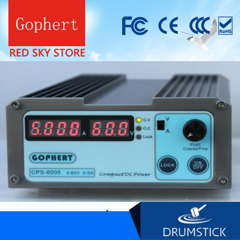 Gophert CPS-6005 DC Switching Power Supply Single Output 0-60V 0-5A 300W adjustable dc regulated switching power supply 60v 17a high power digital adjustable dc power supply 1000w four bit display cps 6017