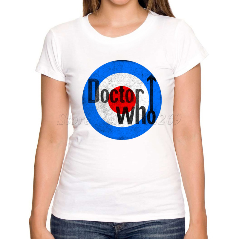 New arrivals doctor who women customized t shirt tardis for T shirt print express