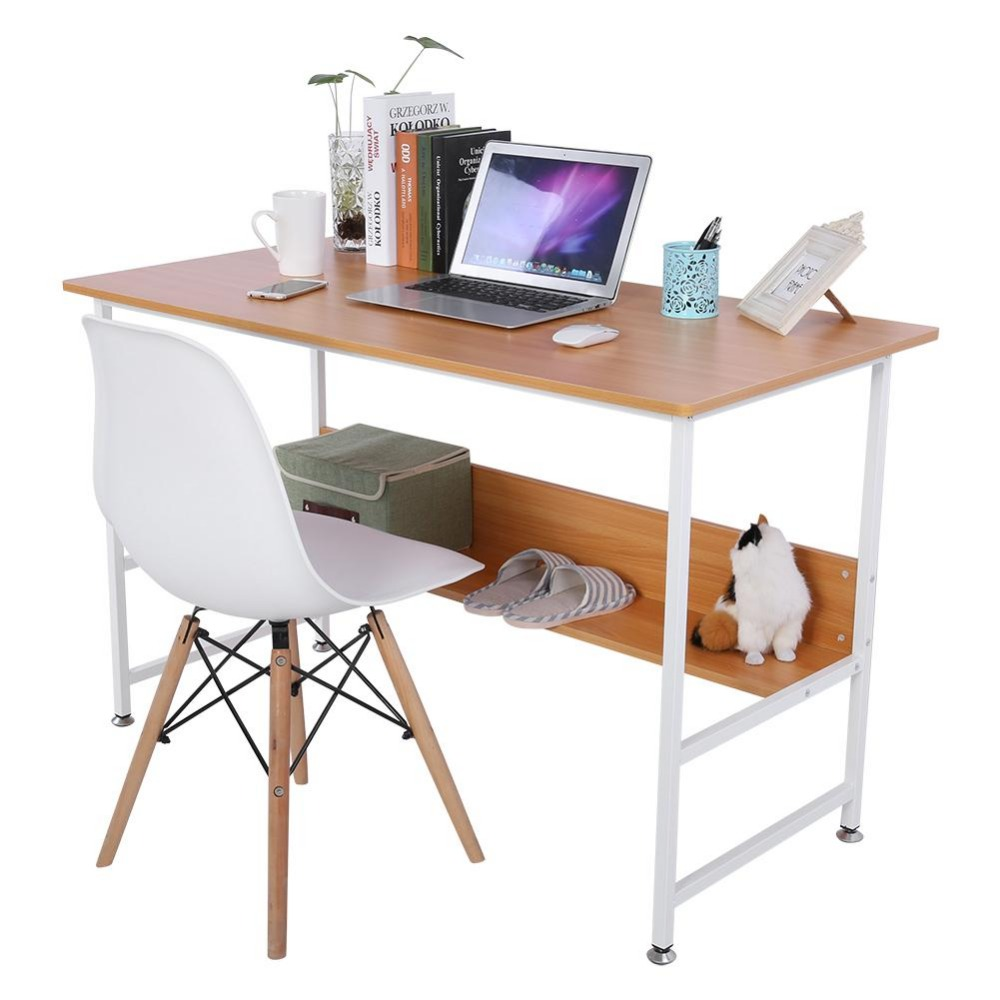Mesas escritorio Casa Moderna Ufficio di Legno Del Computer Del Computer Portatile Scrivania con Più Basso Bordo mesas escritorio portatile basamento del computer portatile
