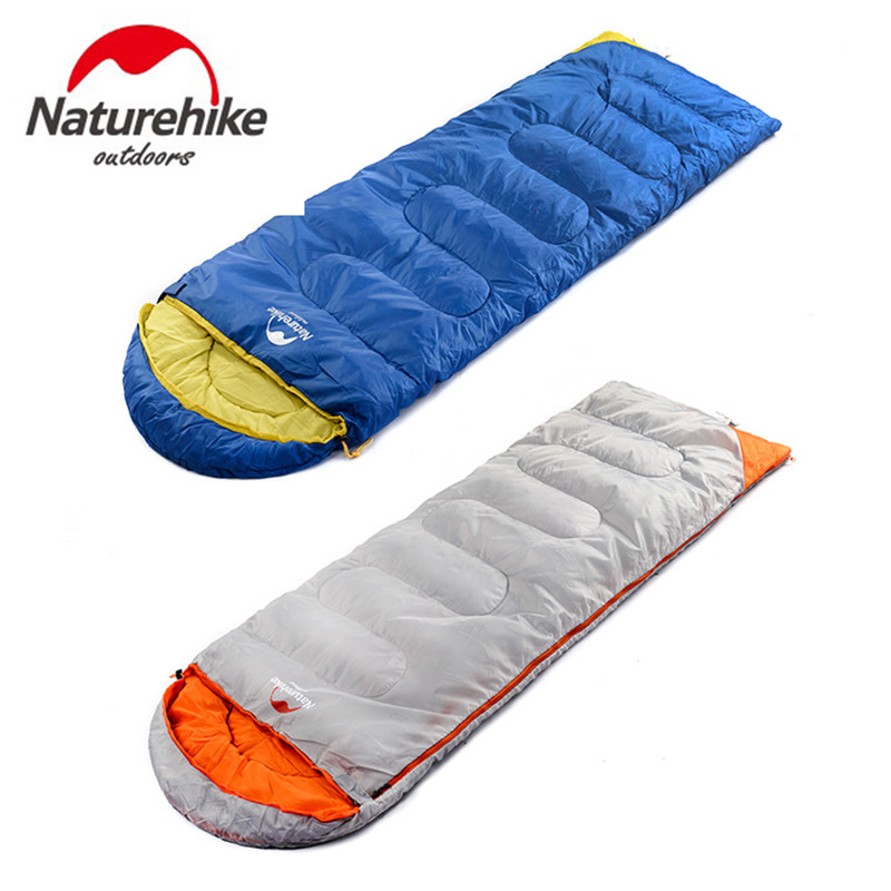 Naturehike Ultralight Outdoor Camping Sleeping Bag Adult Tents Cotton Filler Envelope Warm Spring Autumn Hiking Bags 2.2*0.75M hewolf sleeping bag outdoor cotton lunch break room camping adult spring autumn envelope thickening 2 persons