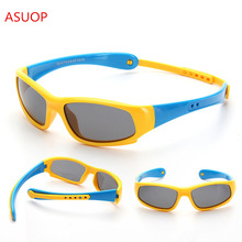 New Polarized Men and Women Sunglasses TR90 Soft Silicone Kids Glasses