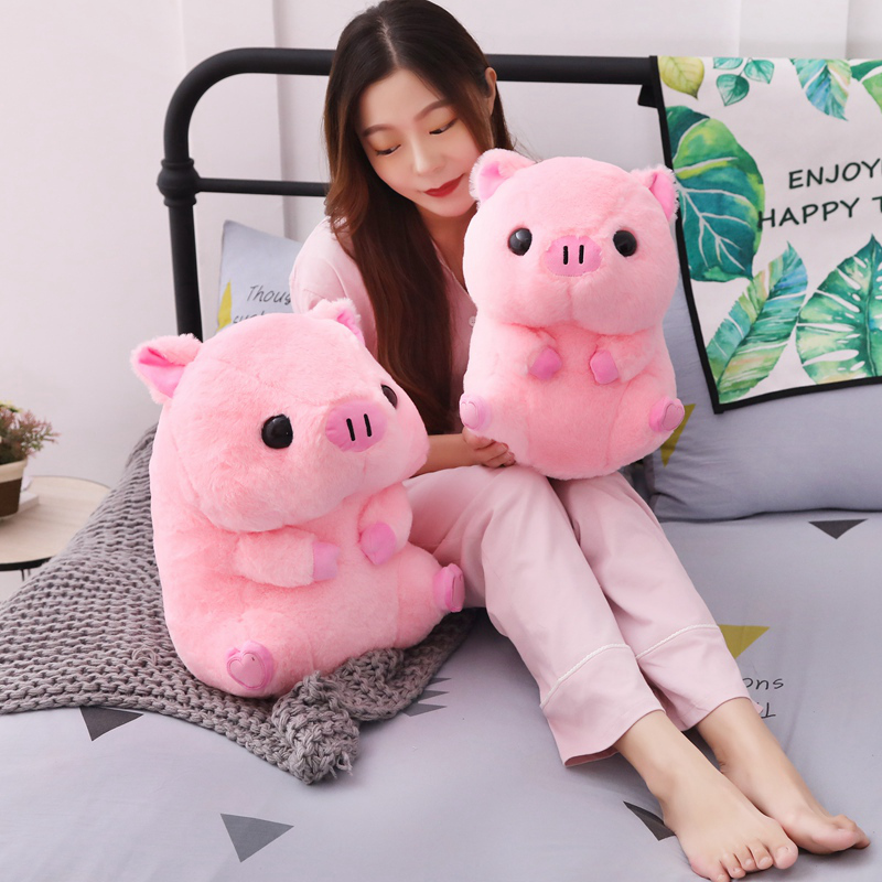 1PC Lovely Fat Round Pig Plush Toy Kawaii Animal Pink Pig Dolls Stuffed Toys for Children Soft Pillow Girls Xmas Valentine Gift