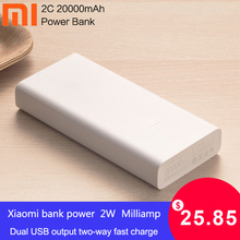 Original Xiaomi 20000mAh Power Bank 2C Fast charger Support QC3.0 Dual USB 3.0 battery external mini powerbank for Mobile Phones