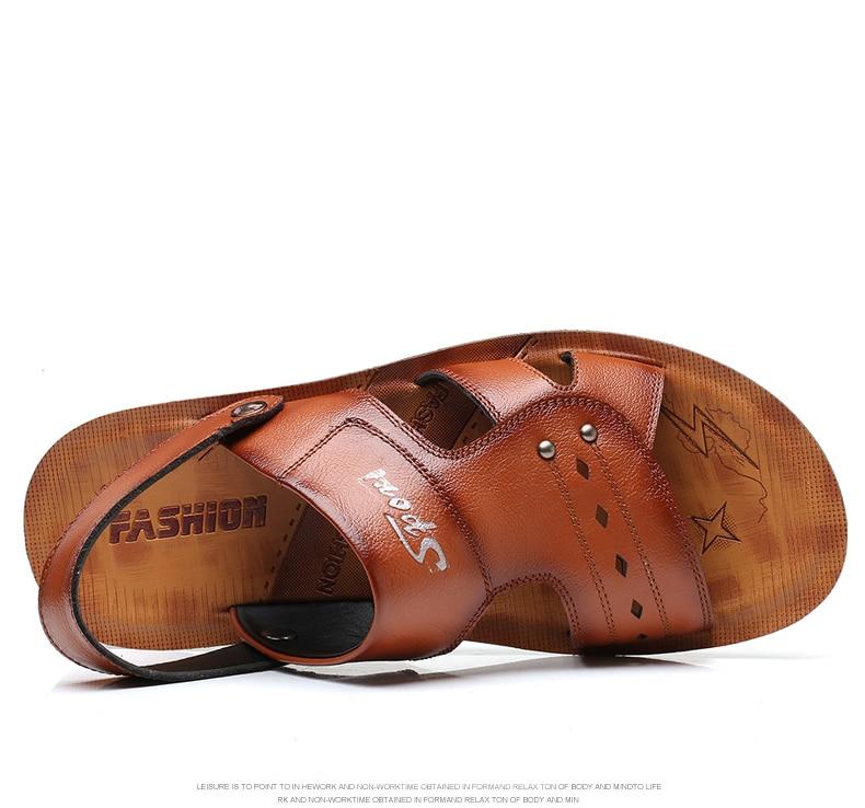 Clássico Roma Sandálias Chinelos de Praia Homens Causal Sapatos Oco