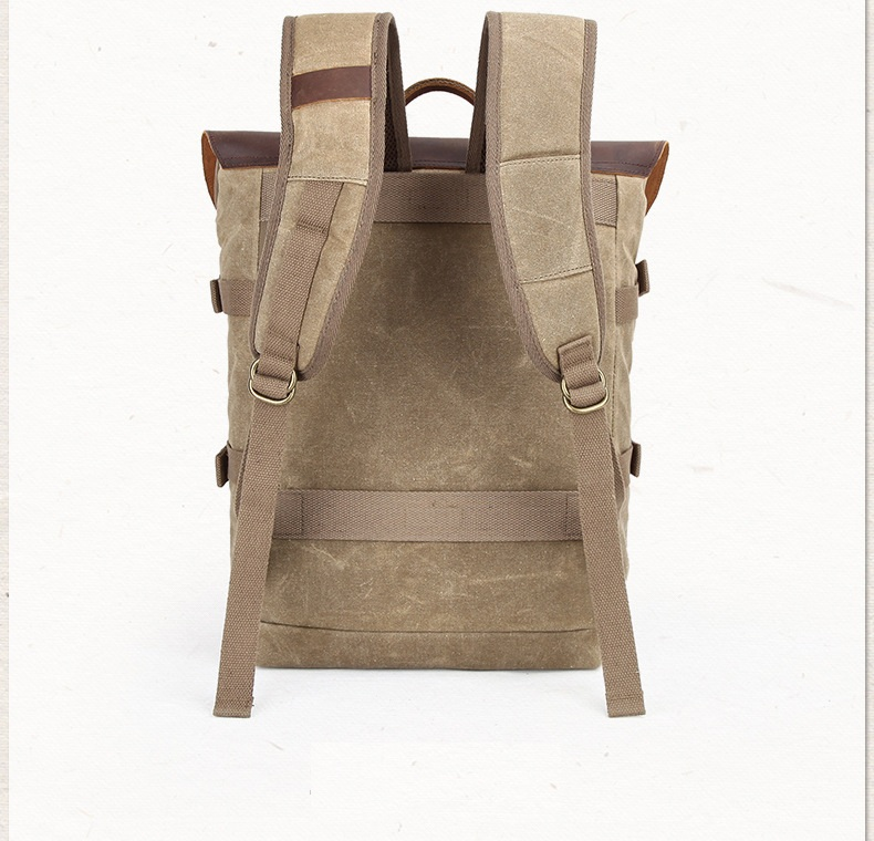 Canvas and leather DSLR Camera bag