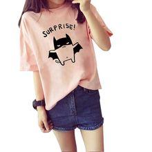 COCKCON Bat Fashion Women's Summer T-Shirt Clothes Shirt O-neck Batman Cartoon Printed Tops