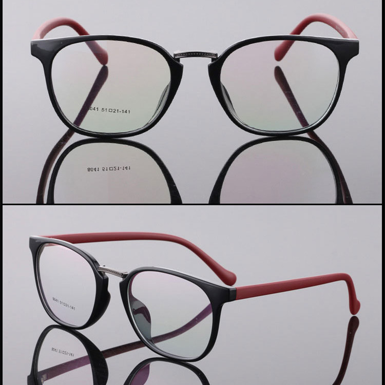 Vintage Brand Design Plain Men Women Glasses Round Eyeglasses Optical Frame Retro Ultra light TR90 glasses optical frame 8041 in Men 39 s Eyewear Frames from Apparel Accessories