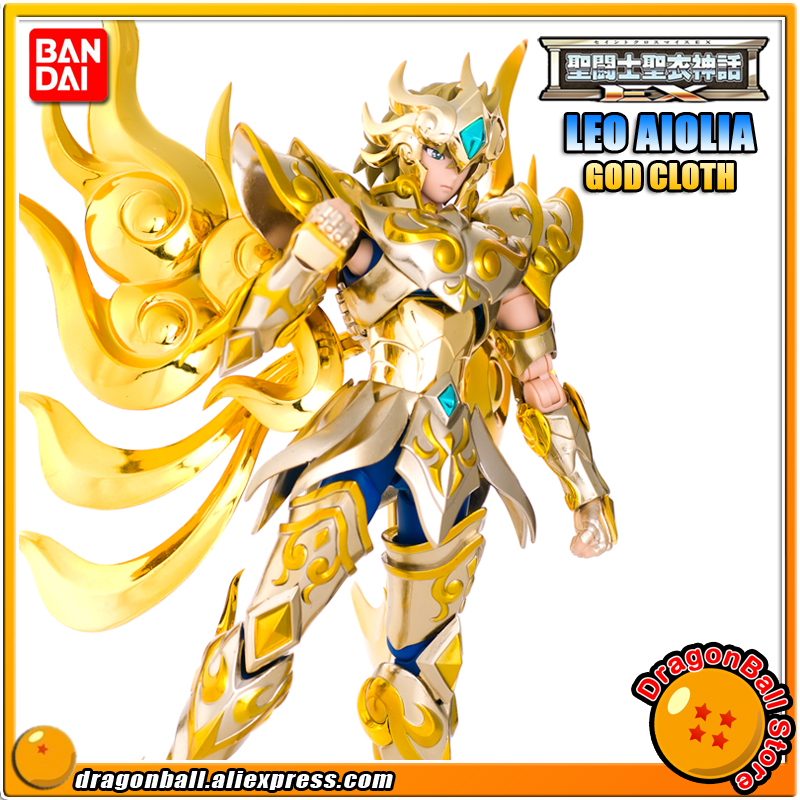 Japan Anime Saint Seiya Original BANDAI Tamashii Nations Saint Cloth Myth EX Soul of Gold Action Figure - LEO AIOLIA GOD CLOTH brand metal club mc anime saint seiya character ex myth cloth soul of gold god ex aries mu figure