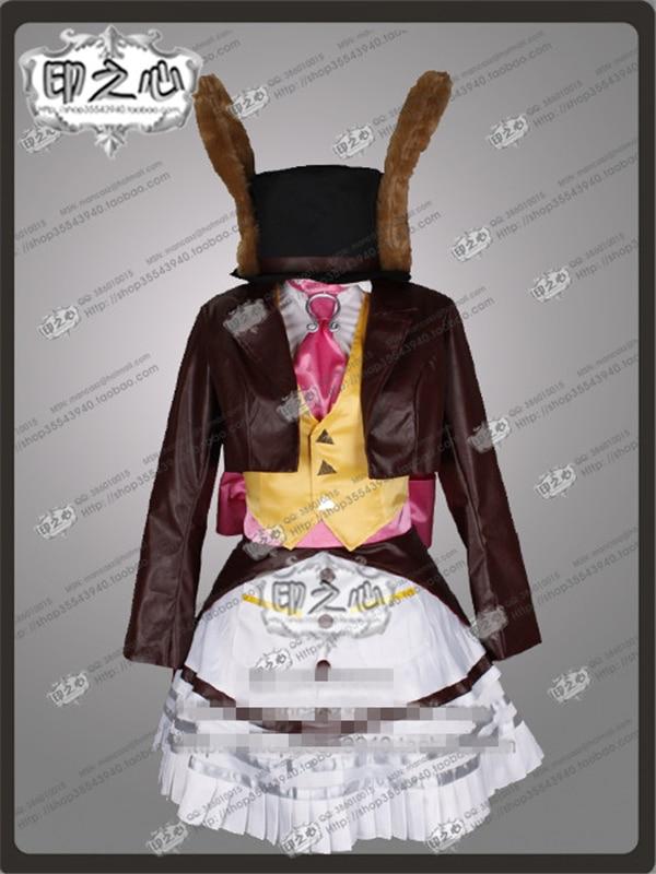 Аниме Алиса: безумие возвращается крышка версия с Lucky Rabbit косплэй костюм рубашка + пальто платье жилет O - 2