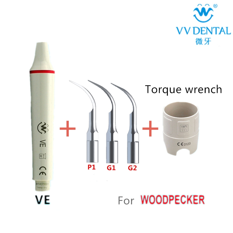 New handpiece with Ultrasonic Dental Scaler Tips and a Torque Wrench Compatible with Woodpecker/EMS Dental Material equipmentNew handpiece with Ultrasonic Dental Scaler Tips and a Torque Wrench Compatible with Woodpecker/EMS Dental Material equipment
