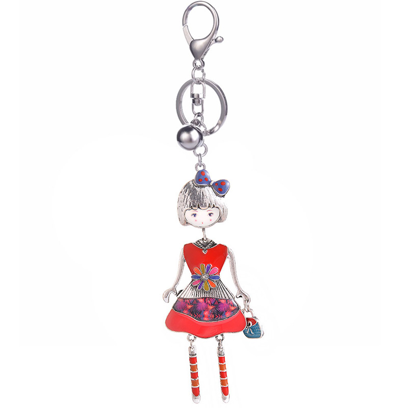 2019 Best selling Doll Key Chains Rings Classic Charm Enamel Alloy Girls Jewelry Keychain for Women Girl Bag Fancy Keychains New in Key Chains from Jewelry Accessories