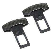 1 uds. Hebillas para el cinturón de seguridad de fibra de carbono auténtica para camiones, cinturón de seguridad para asiento de coche, cancelador de alarma