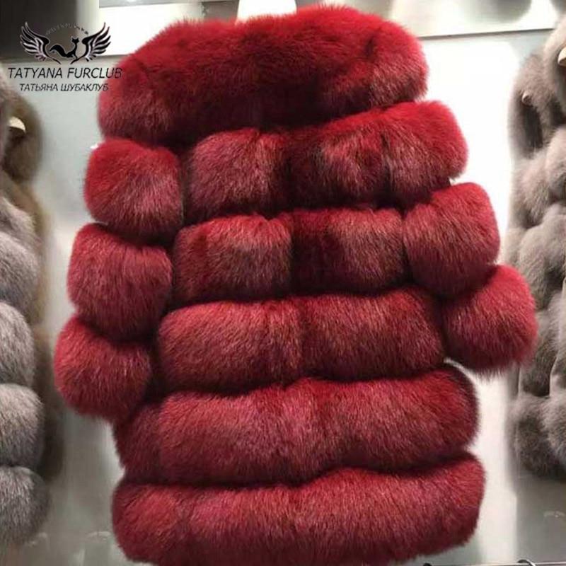 Prochainement Type Manteau Dames Fourrure Réel Pour D'hiver Long Manteaux Doux Les Nouveaux Outwear Femmes 2018 black dark Red Moyen Renard De Chaud Gray Tatyana Chaude qzOPEwct
