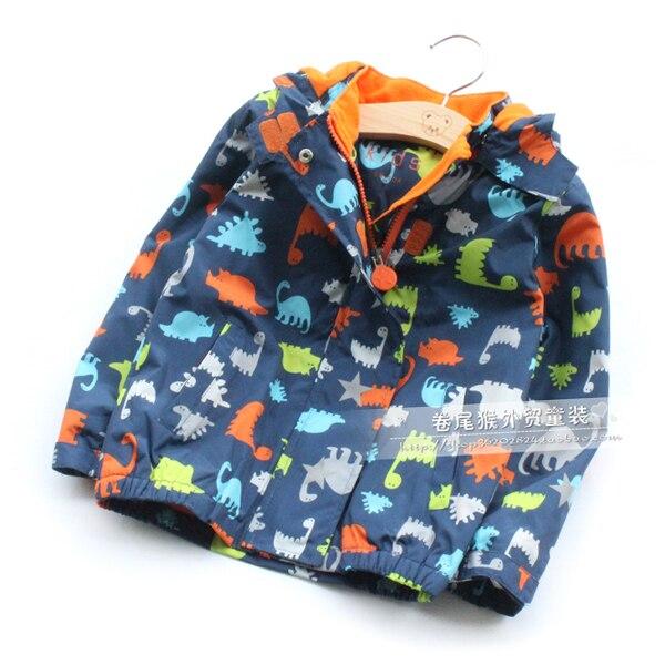 children/kids/boys windproof jacket, windbreaker set, dinasour fleece lining jacket