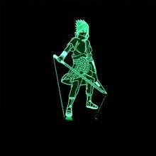 Naruto Sasuke Modelling 3D Visual Night Light