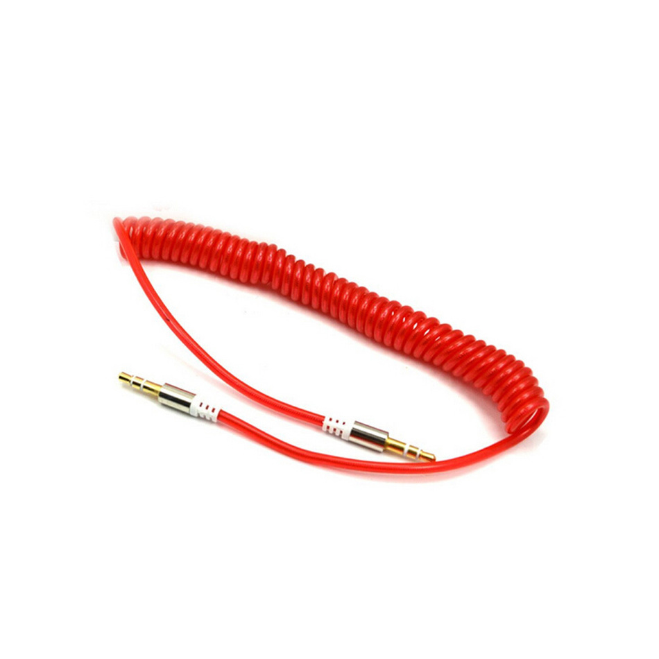Spring Stereo AUX Auxiliary Cord 3 5mm to 3 5mm Audio Cable for Car iPhone iPod