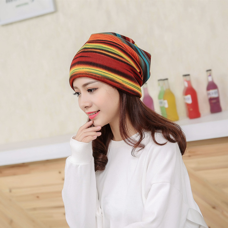Bigsweety New Striped   Skullies   Scarf Hat Windproof Maternity Cap Pregnant Mother   Beanies   Caps Autumn Winter Hood Warm   Beanies