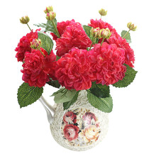 2 head Dahlia artificial flowers fake home decoration wedding layout
