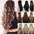 "25"" Natural Long Straight 3/4 Wig Fall Black Blonde Brown Women's Synthetic Half Wig Cosplay Fancy Dress"