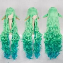 LOL Soraka pelucas de pelo sintético resistente al calor, peluca de pelo sintético resistente al calor de 100cm con gorro para peluca