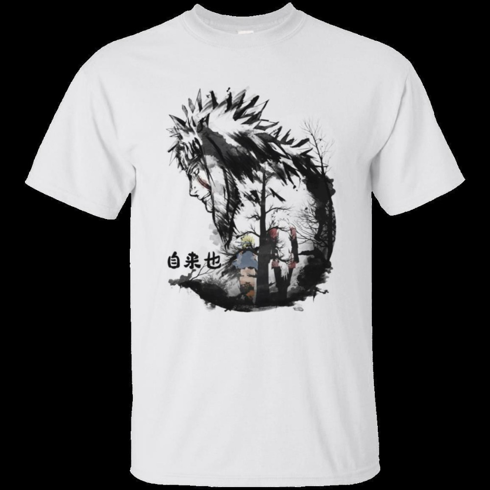 Jiraiya naruto the gallant anime japan movie hokkage nine tails T-Shirt Black