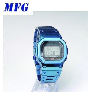 Image 5 - Mfg時計バンドDW5600 時計バンドストラップ & ケース金属ステンレススチールブレスレットスチールベルトアクセサリー