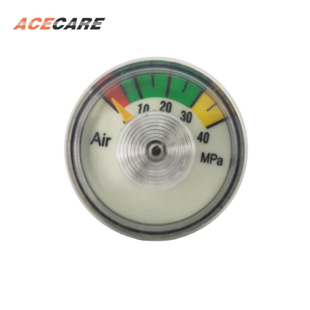 Acecare AKH-H1 PCP Compressed Air Paintball Tank Red Valve Gauge Hunting Equipment Without Valve 1pcs