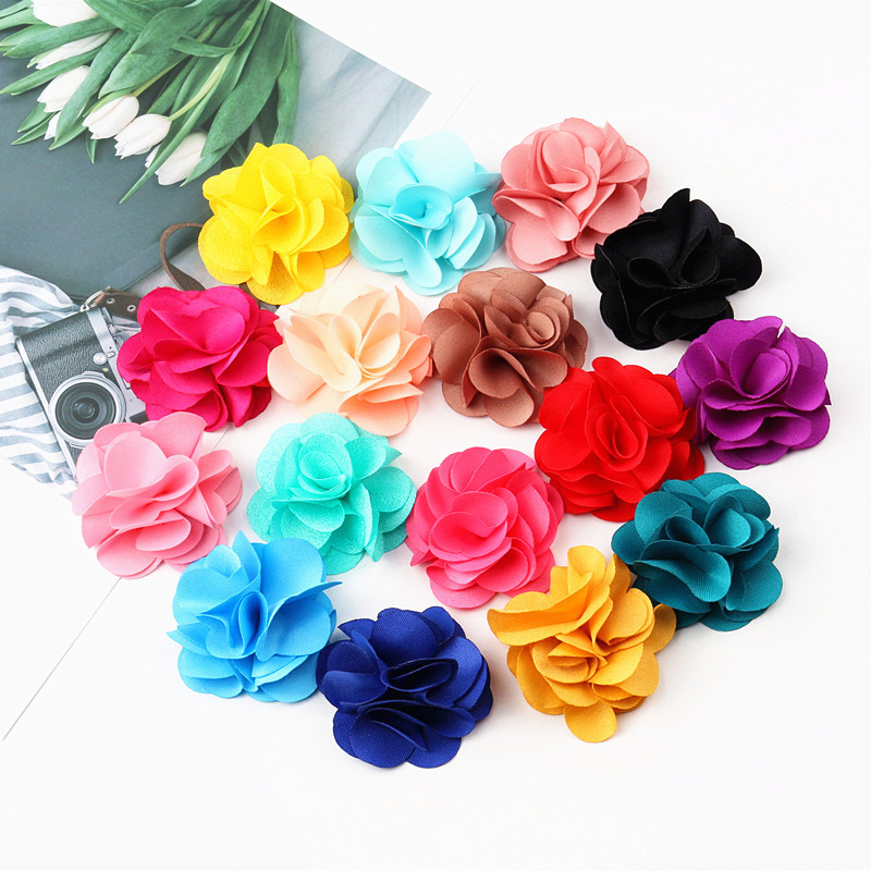 Image 4 - 100Pcs Mix Colors Mini Chiffon Fabric Flower For Wedding Invitation Artificial Flowers For Dress Decoration-in Jewelry Findings & Components from Jewelry & Accessories