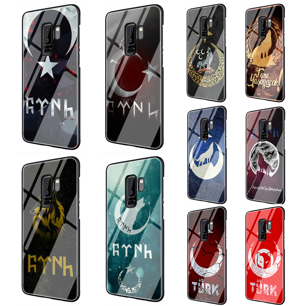 <font><b>Flag</b></font> of Turkey Wolf Tempered Glass Phone Case for <font><b>Samsung</b></font> Galaxy S7 Edge S8 S9 S10 Note 8 9 10 plus <font><b>A10</b></font> 20 30 40 50 60 70 image