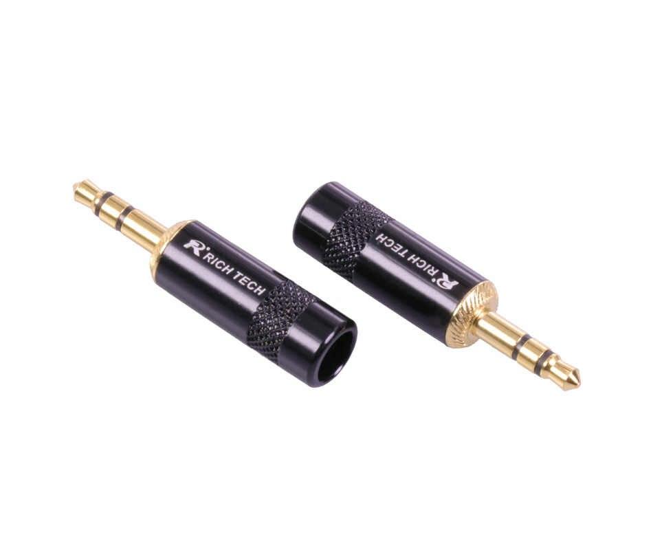 jack 3 5 3 poles 3 5mm audio gold-plated headphone plug 3 5 rca  connectors jack