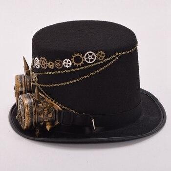 Шляпа В Стиле Стимпанк С Очками Вариант 7 1