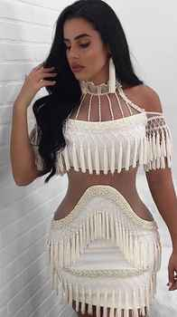 4 Colors Top Quality Sexy Short Sleeve Beading Bandage Dress 2018 Celebrity Designer Fashion Dress Vestidos - DISCOUNT ITEM  25% OFF All Category