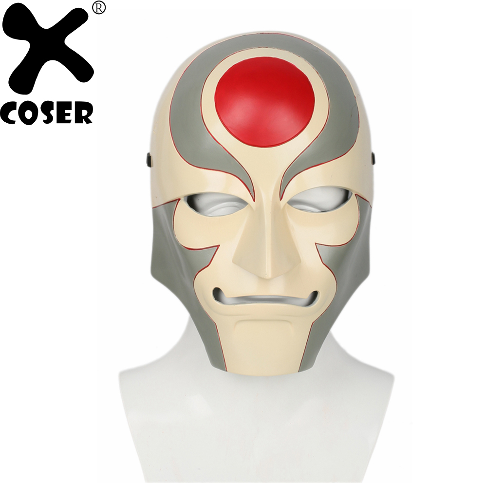 XCOSER Avatar The Legend of Korra Amon Mask Cosplay Props Stylish Full Face Masks Anime Cosplay Mask Costume Accessories