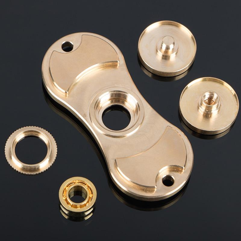 Brass Rotation Time Long Tri Spinner Fidget Funny Toys Metal EDC Fidget Spinner Hands Spinner For