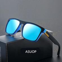ASUOP 2019 new square polarized mens sunglasses UV400 fashion ladies glasses classic brand designer sports driving