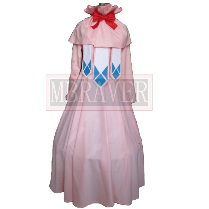 Fairy Tail Cosplay Clothes/ Fairy Tail's First Guild Master Mavis Vermilion Cosplay dress Costume