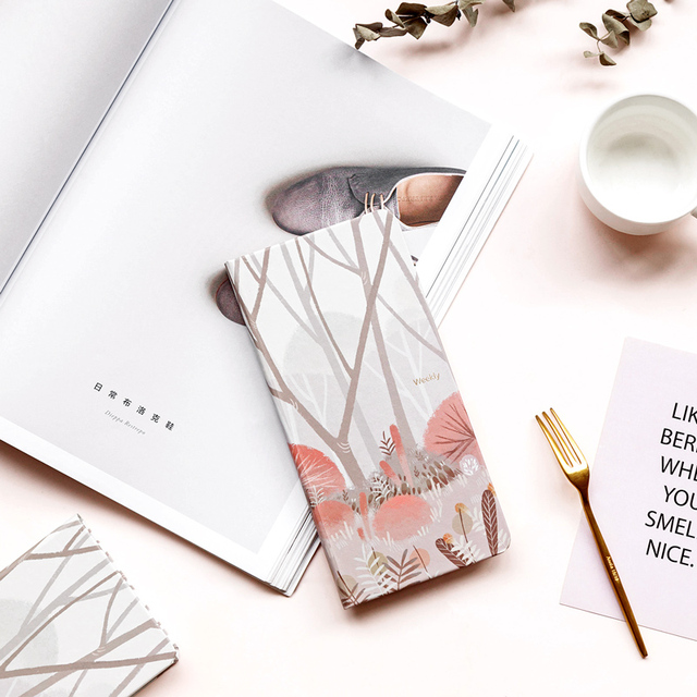 New Cute Portable Travelers Journal Notepad Kawaii Weeks Planner Daily Weekly Planner Agenda 2019 2020 Schedule Bullet Journal 3
