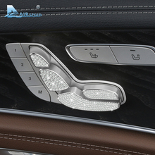 Airspeed for Mercedes Benz E Class W213 E200L E300L Car Seat Adjust Button Cover Diamond Decoration