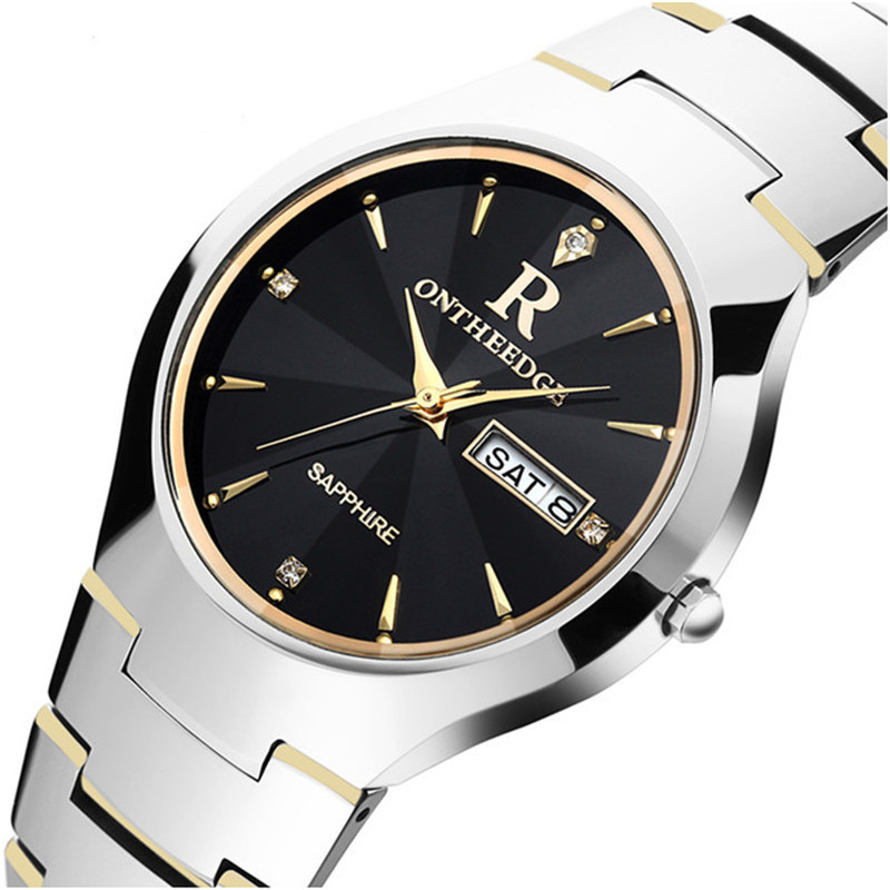 Relogio homem New Luxury Brand Tungsten steel watch men watches waterproof business couple women dress quartz Wrist watch clock bosck women s watch top brand business relogio masculino japan movment tungsten steel man watch dress casual quartz wrist watch