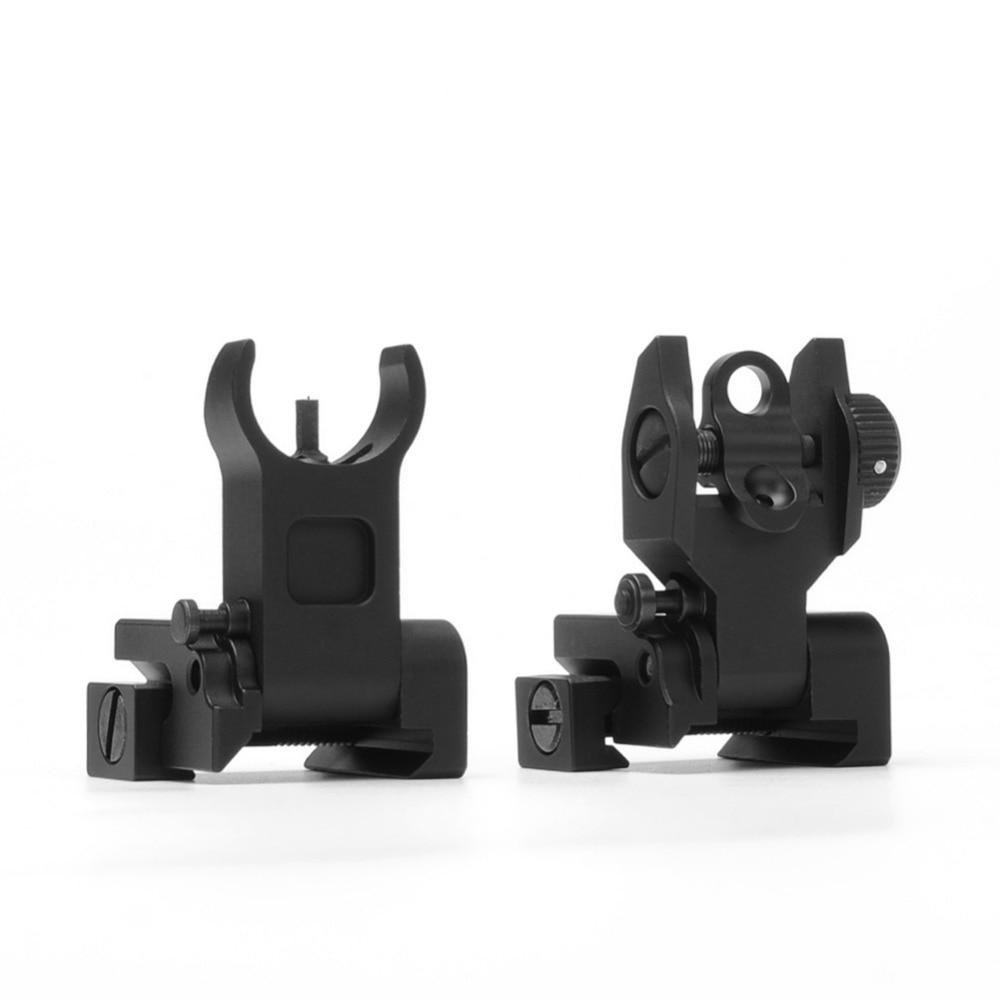 Flip up Front Rear Iron Sight Set Dual Halve maan Vorm BUIS - Jacht - Foto 3