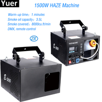 Free Shipping 2Pcs/Lot 1500W Mist Haze Machine With Haze Liquid Water Based Stage DMX Fog Machine For Disco DJ Stage Equipment