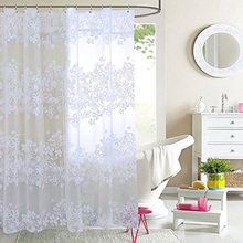 ФОТО european peva waterproof shower curtain thickened translucent quality bath curtain environmental protection partition curtains